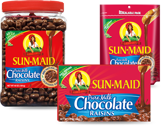 sunmaid chocolate raisins