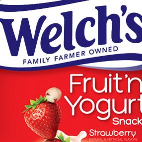 welchs fruit snacks fruit 'n yogurt